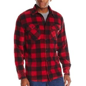 Wrangler Long Sleeve Plaid Fleece Shirt Sz S